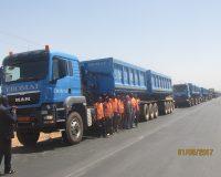 EBOMAF-BTP : Une dizaine de double klinkers attelés à des tracteurs MAN pour plus de performance sur les chantiers